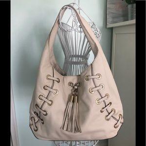 Michael Kors Astor Grommet Leather Hobo Bag